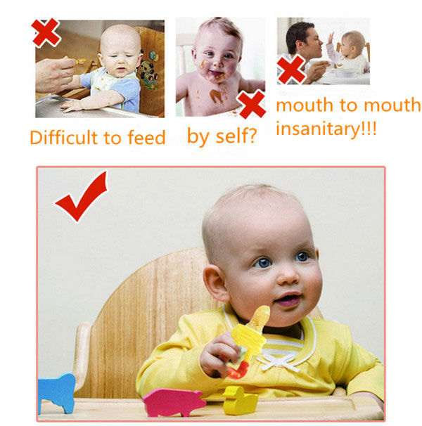 Baby Fresh Food Feeder Fruit Juice Milk Shake Feeding Saft Silicone