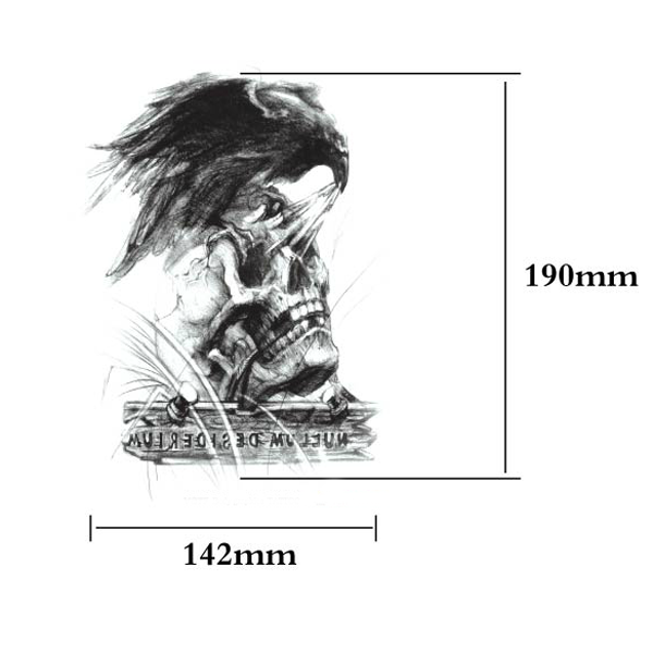 YCTF PRINTING Temporary Eagle Skeleton Tattoo Transfer Body Sticker