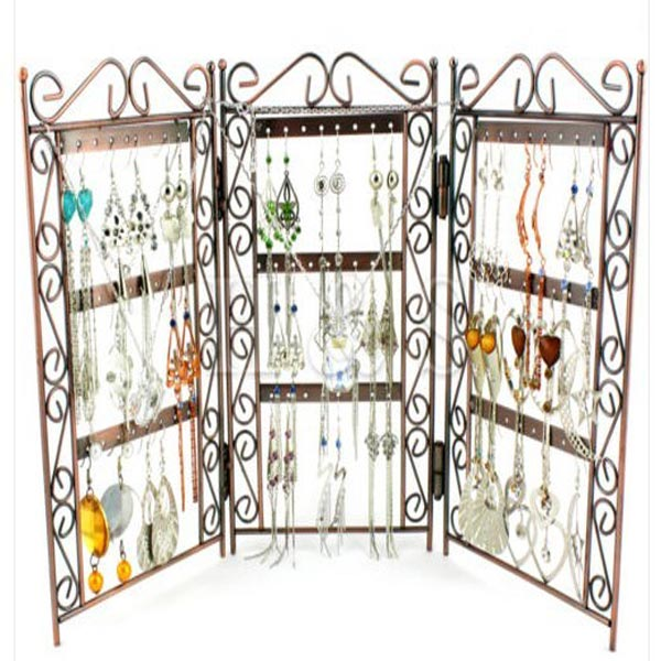 Metal Folded Earring Jewelry Display Stand Holder Storage Rack Hanger