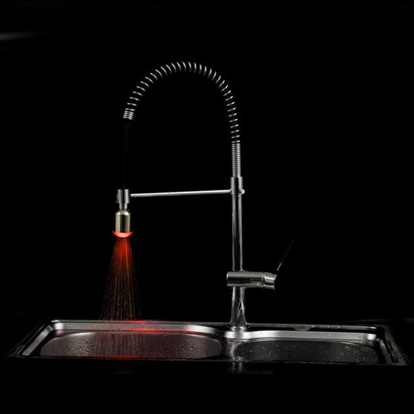 Full Brass Led Faucet Light Tap Water Power Tap LD8002-A20