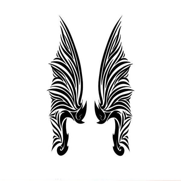 YCTF Temporary Waterproof Tattoos Wings Tattoo Stickers