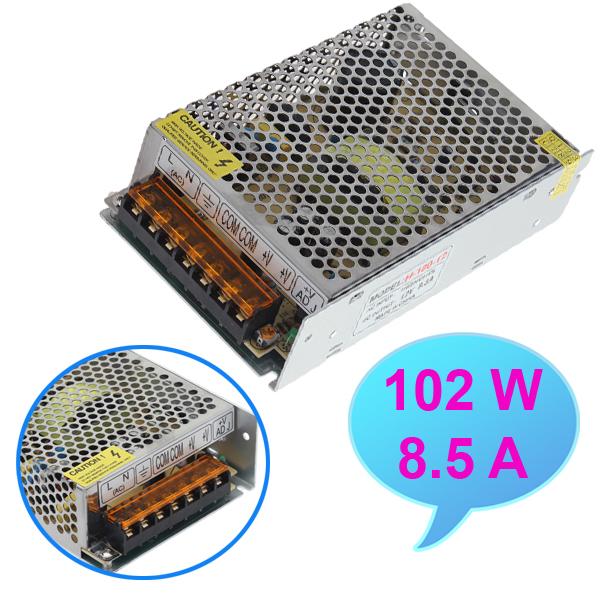 102W Power Supply Driver For LED Strip Light DC 12V AC110-220V