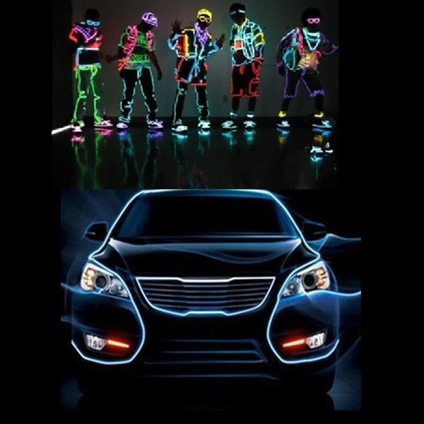 3M 10 colors Flexible Neon EL Wire Light Dance Party Decor Light