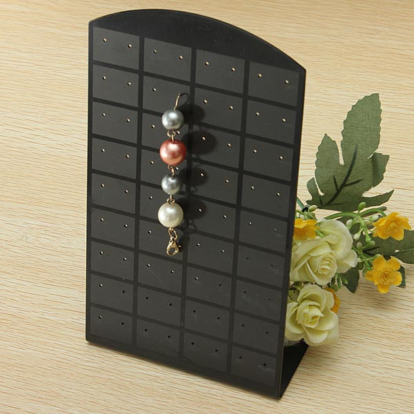 72 Holes Black Plastic Earrings Show Case Jewelry Display Stand