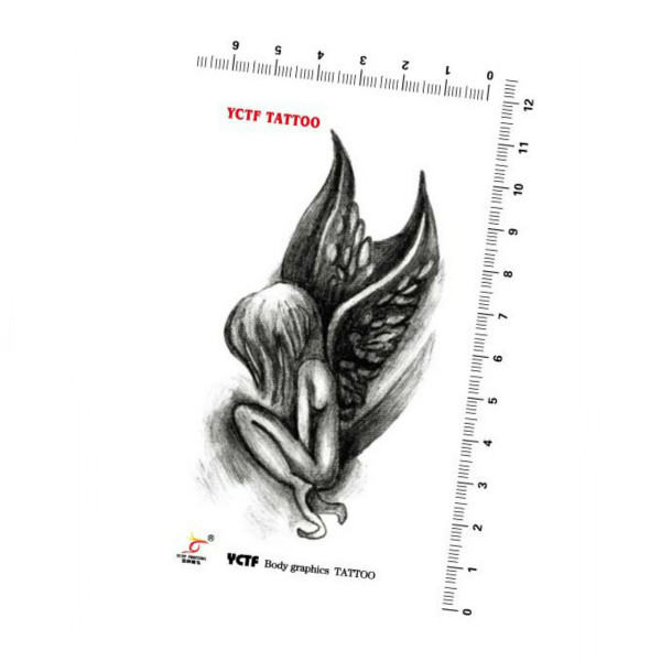 Angel Design Waterproof Temporary Transfer Tattoo Sticker