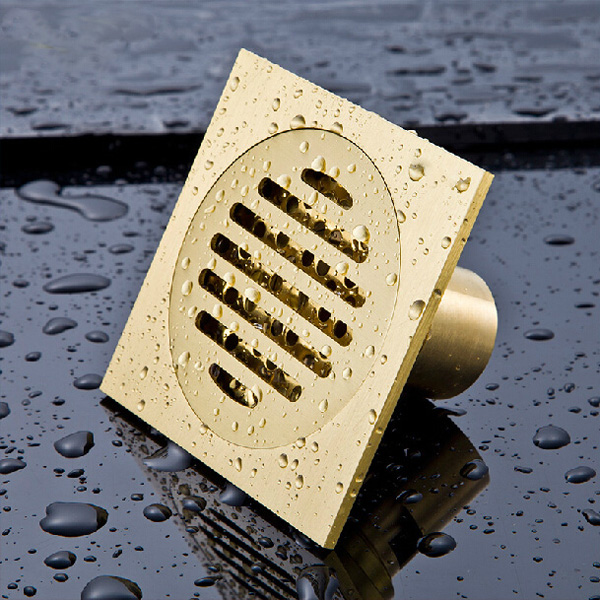 Brass Solid T-type Floor Filler Anti-odor Bath Floor Drain