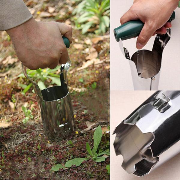 Steel Agricultural Transplanting Seedlings Tools Garden Transplanter