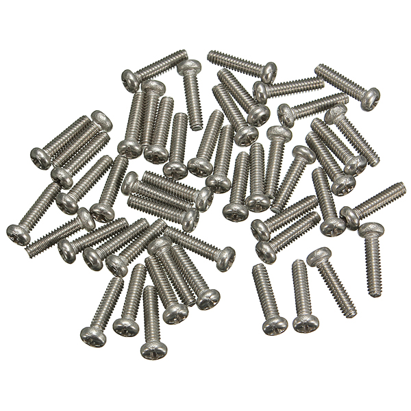 50pcs M2x6mm Philips Head Screw 304 Stainless Steel Screw