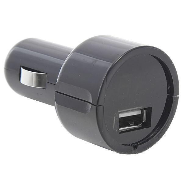 2-In-1 DC12-24V USB Car Charger Adapter Black + Car Voltmeter