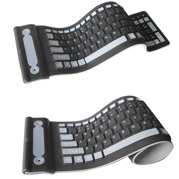 2.4GHZ Wireless Waterproof Flexible Roll Up Silicone Rubber Keyboard