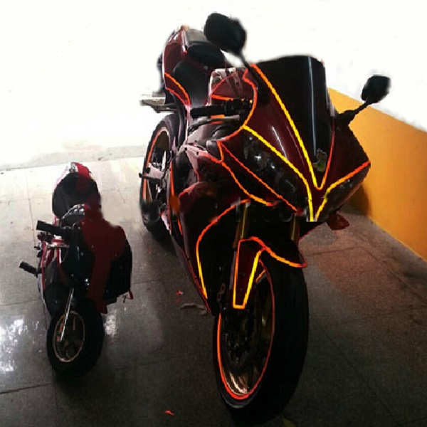 Motorcycle Article Reflective Luminous Lamination Decorative Stickers