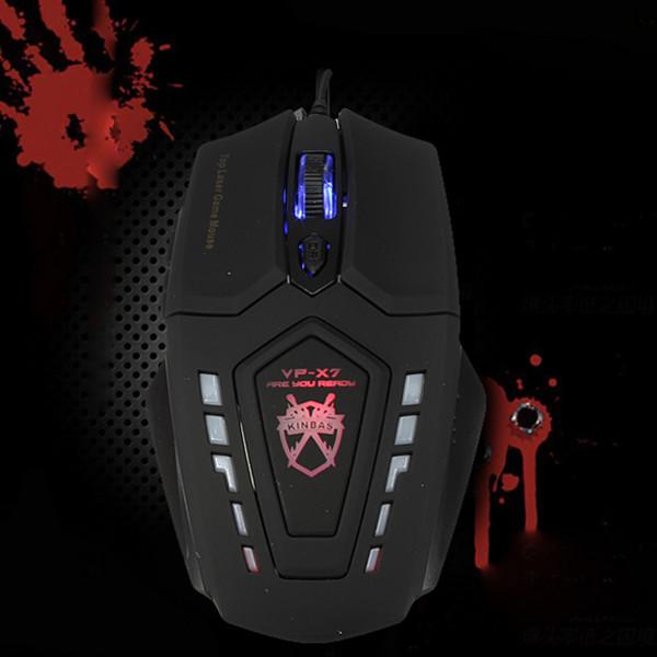 Kinbas VP-X7 2400 DPI 6 keys Wired Optical Gaming Mouse