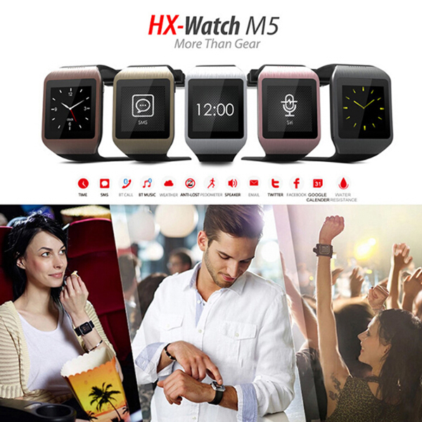 Wi-WATCH M5 Bluetooth 3.0 Pedometer Anti Lost Men Phone Watch