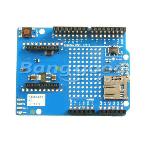Arduino Compatible Wireless SD Shield for XBee With SD Slot