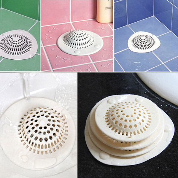 Silicone Suction-cup Bathroom Drain Strainer Sink Bathtub Hair Filter