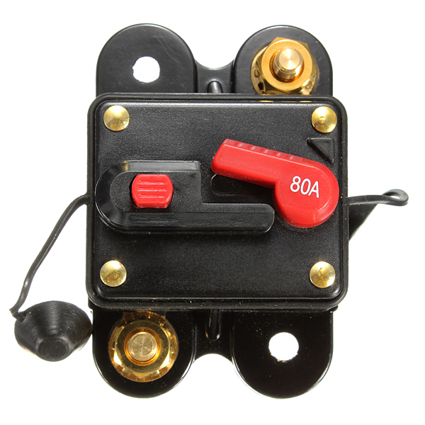 80A Resetable Car Boat Audio/Video AMP Power Fuse Circuit Breaker