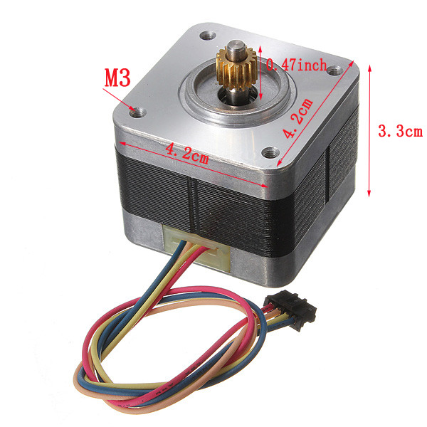 5V 1.2A 1.8 Degree CNC Nema17 Auto Stepper Motor 2-phase 4-wire