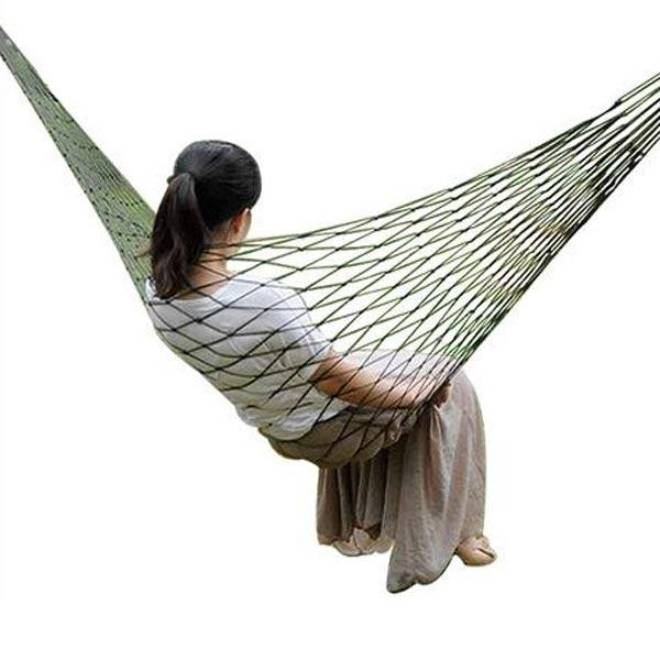 Outdoor Travel Camping 200 x 80cm Hammock Nylon Mesh Net Sleeping Bed