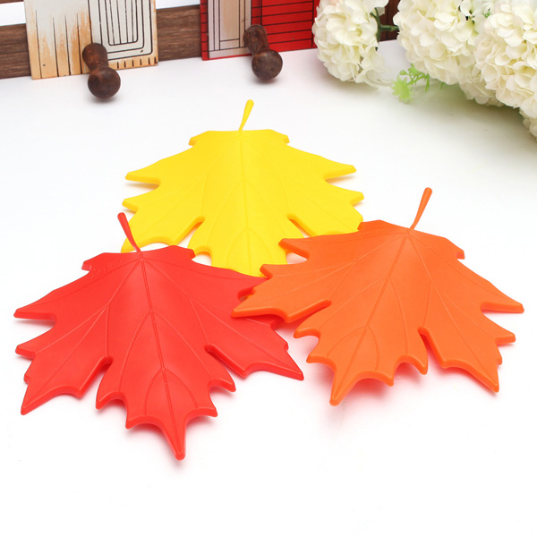 Maple Autumn Leaf Doorstop Finger Safety Door Stopper Home Decor