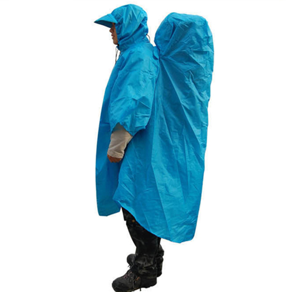 Hiking Camping Raincoat Backpack Cover Poncho