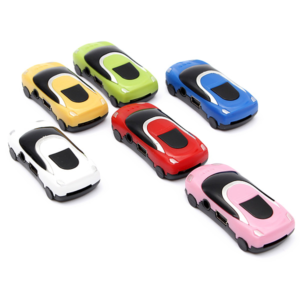 Mini Car Style USB Digital MP3 Music Player Support Micro SD TF Card Reader