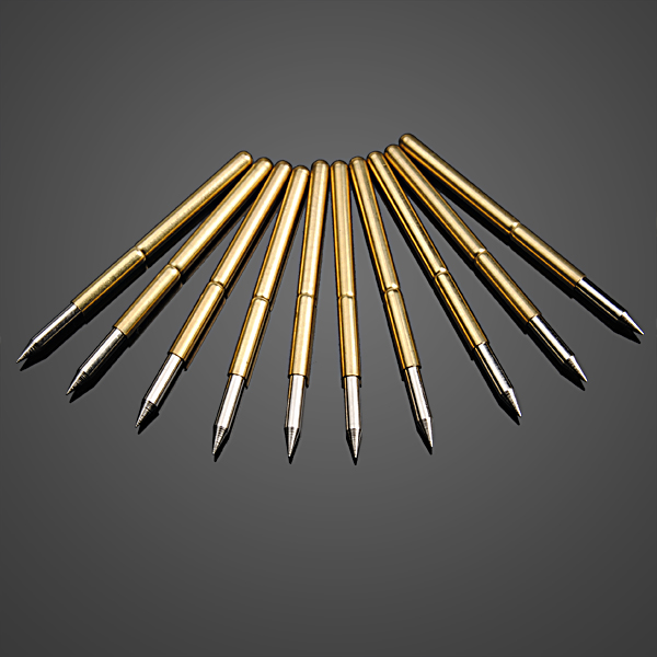 10pcs Ultra Pointed Golden Flexible Multimeter Probe PCB Test Needle