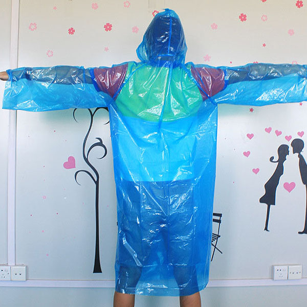 Fieldwork Travel Disposable Plastic Raincoat Poncho Rain Gear
