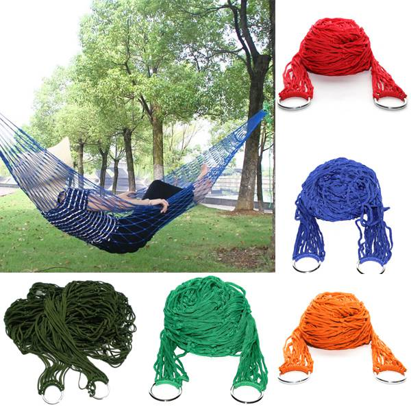 Camping Traveling Portable Hammock Hanging Mesh Sleeping Bed