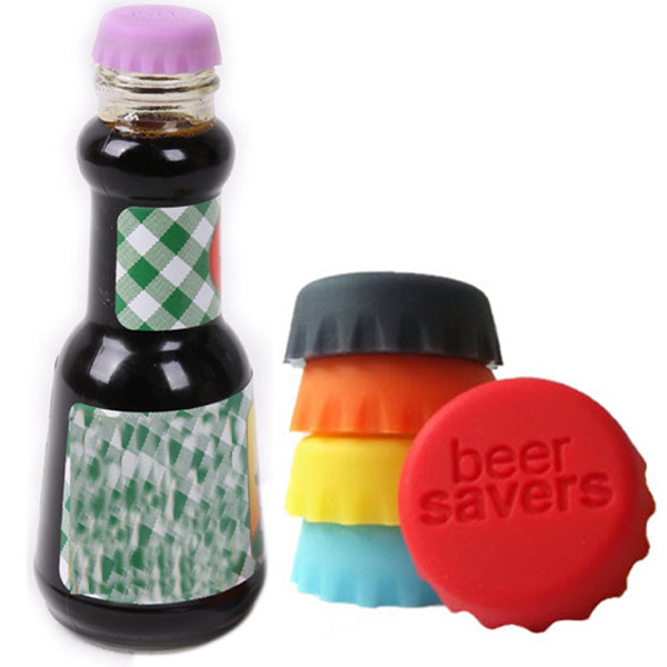 6PCS Silicon Colorful Bottle Stopper Saver