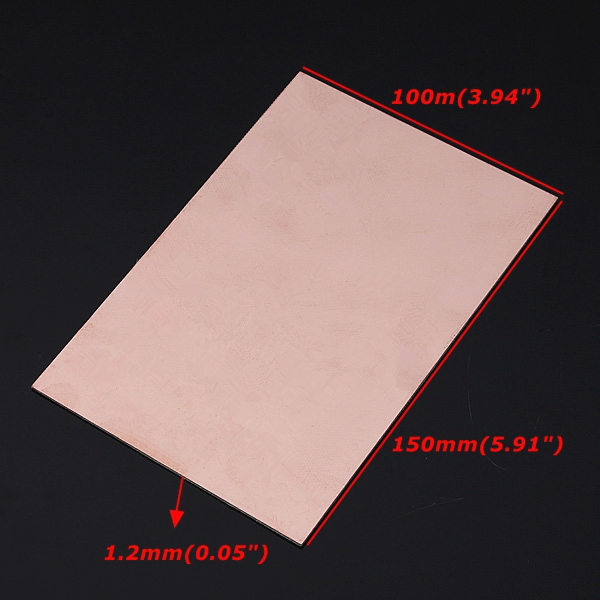 10cmx15cm Single Side PCB Copper Clad Laminate Board FR4