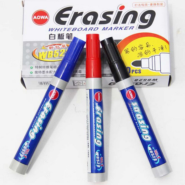 Whiteboard Dry Wipe Erasable Marker Pen Bullet Tip Nontoxic