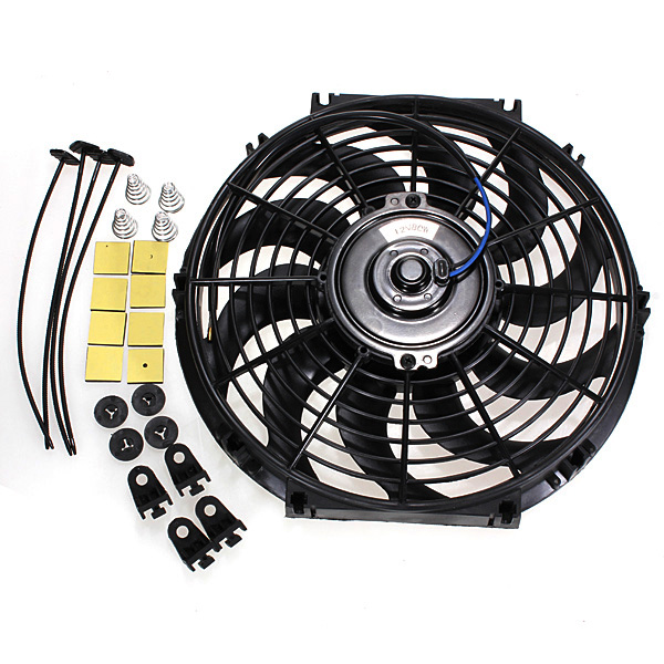 12 Inches 12V Slim Reversible Electric Radiator Cooling Fan Push Pull