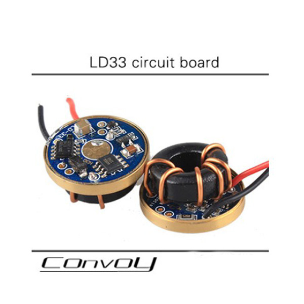 LD33 Circuit Board connect Three XML LEDs in series For Flashlight