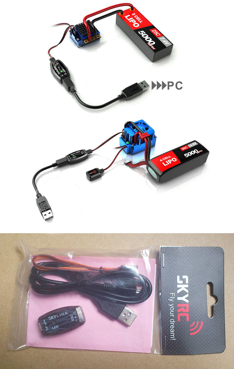 SKYRC RC SKYLINK PC Program Adapter ESC Program Cable SK-600013