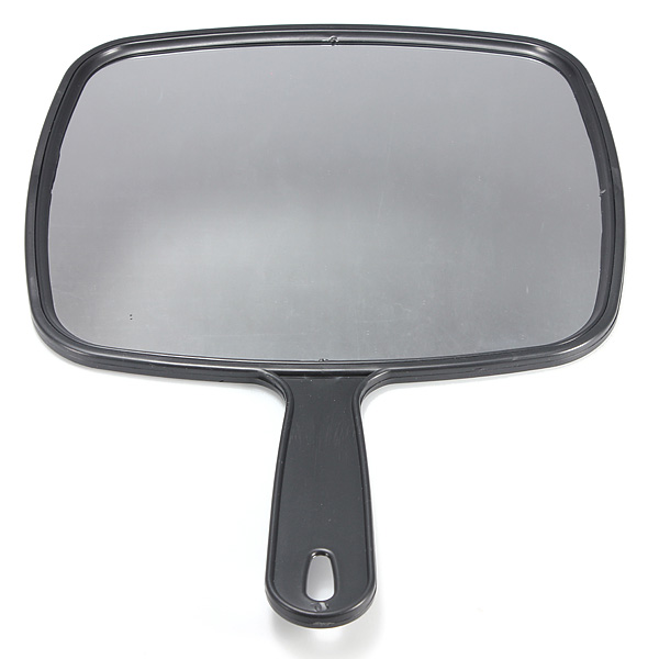 Hair Beauty Salon Black Hand Held Mirror Make Up Hairdressing Kit