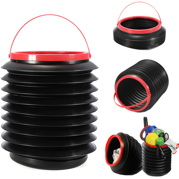 Foldable Car Dustbin Rubbish Trash Bin Container Barrel