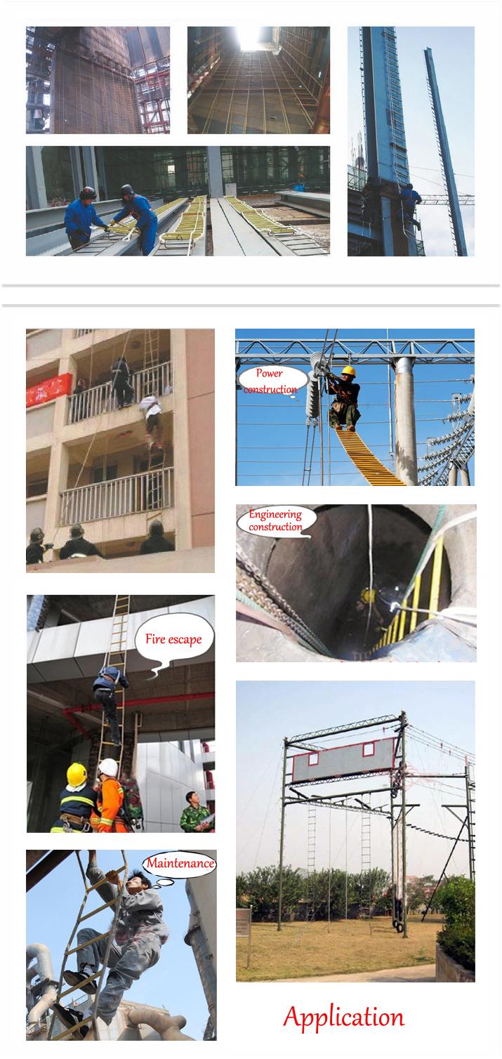 Resin Folding Nylon Rope Ladder Escape Ladder Lifebelts Ratline Ladder