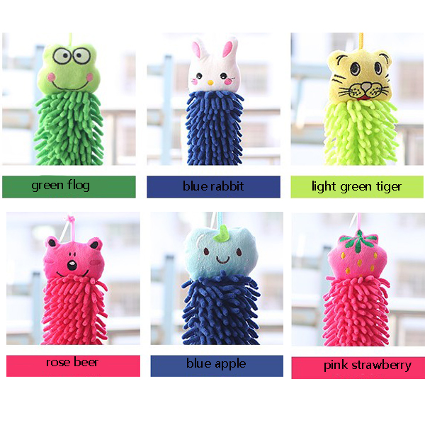 Cute Cartoon Chenille Towel Hand Rag Animal Cleaning Tool