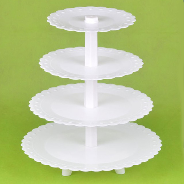 4 Tiers Plastic Cake Stand Detachable Cupcake Holder Dessert Shelf