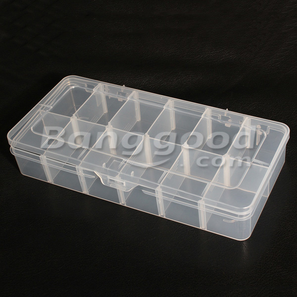 12 Compartments Storage Plastic Jewelry Adjustable Tool Box