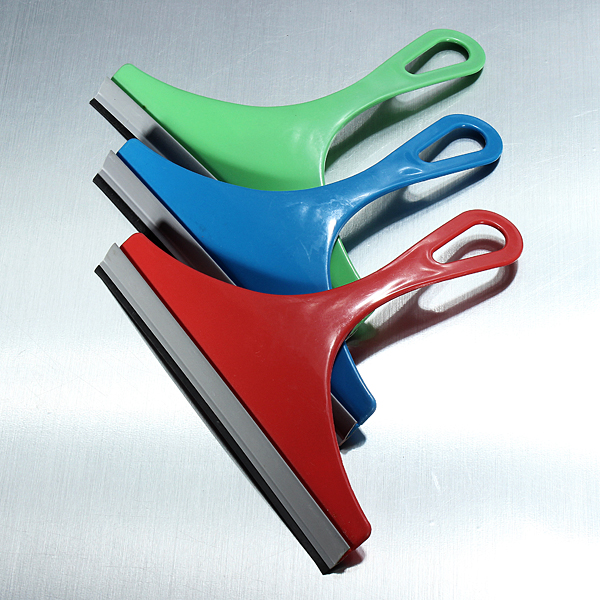 Glass Cleaner Rubber Wiper Window Squeegee Double Blade Shower