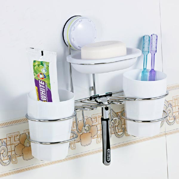 Wall Suction Cup Toothbrush Holders Soap Box Toothbrush Cup Set