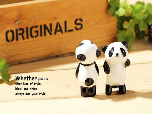 5Pcs Cartoon Panda Chopsticks Shelf Creative Ceramic Chopsticks Shelf