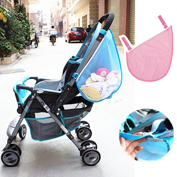 Kids Baby Stroller Pushchairs Toys Diaper Net Mesh Storage Side Bag