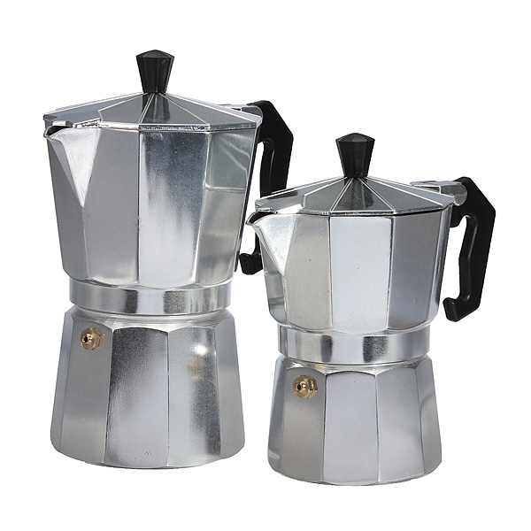 150Ml/300Ml Aluminum Alloy Coffee Pot Maker Moka Espresso Pot