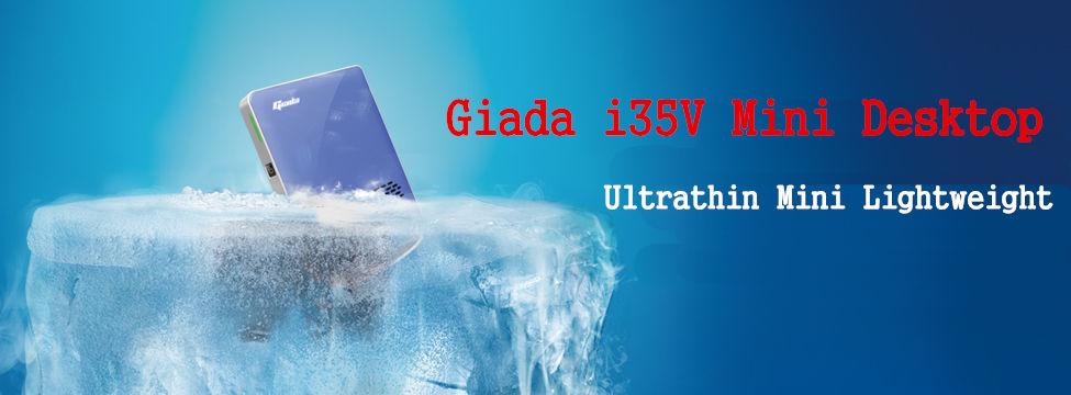 Giada I35V Mini Desktop Intel Atom D2550 GMA3600 2G DDR3+32G MSATA SSD