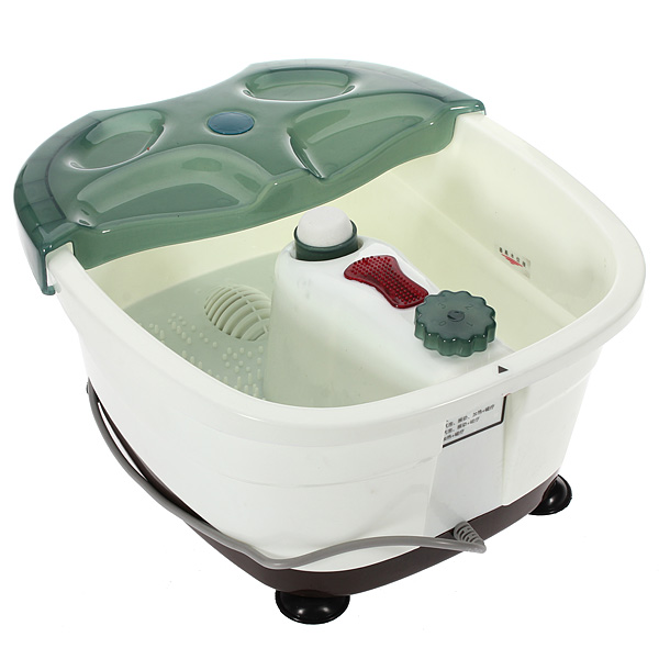 Foot Bath SPA Heat Basin Massager Bubbles Pedicure Therapy Tub