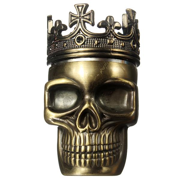King Skull 3 Parts Metal Cigarette Tobacco Herb Grinder Muller