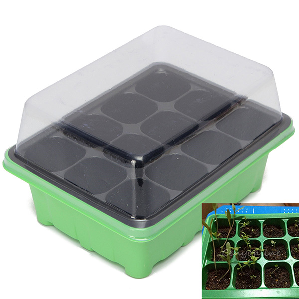 12 Holes Plant Seeds Grow Box Seeds Sprout Tray Garden Tools