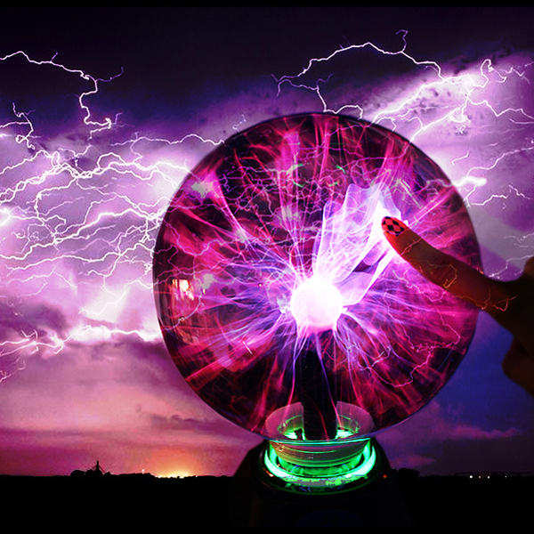 Wholesale 3 Inches Voice Control Electrostatic Induction Plasma Ball  Lightning